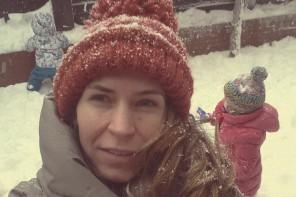 În zăpadă!