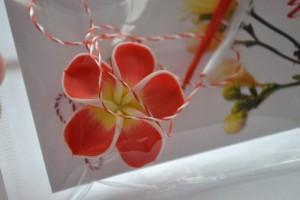 brosa floare mare fimo 3.5 cm - 10 lei