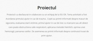 olimpiadele K proiect prim ajutor