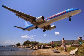 Aproape am atins un avion în aer: aeroportul din Skiathos