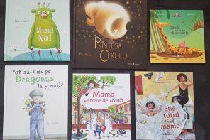 Șase cărți noi despre prietenie, școală, lună și spălat, pentru copii de 2-6 ani